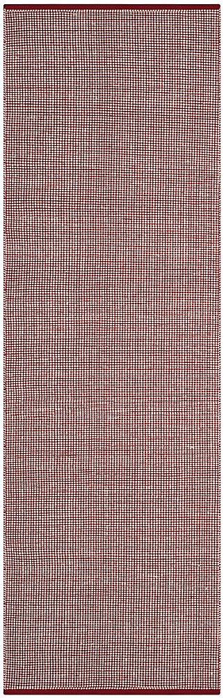 Tapis de passage d'intérieur, 2 pi 3 po x 8 pi, Montauk Ben, ivoire / rouge