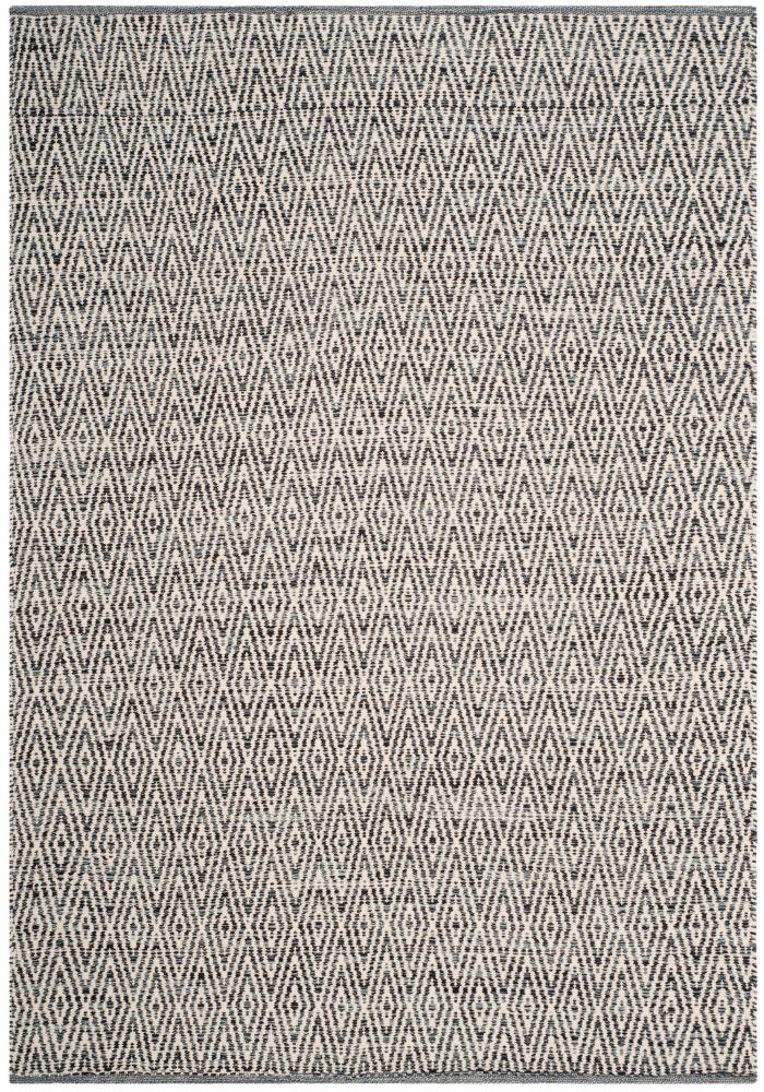 Safavieh Montauk Mario Ivory / Dark Grey 5 ft. x 8 ft. Indoor Area Rug