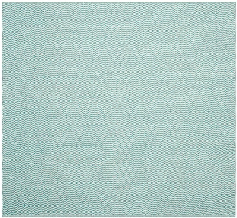 Montauk Rachel Ivory / Aqua 6 ft. x 6 ft. Indoor Square Area Rug