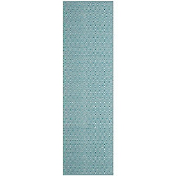 Safavieh Montauk Rachel Ivory / Turquoise 2 ft. 3 inch x 6 ft. Indoor Runner