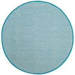 Safavieh Tapis d'intérieur rond, 4 pi x 4 pi, Montauk Rachel, ivoire / turquoise