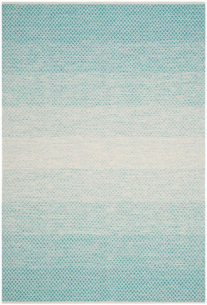 Tapis d'intérieur, 4 pi x 6 pi, Montauk Aimee, turquoise / ivoire