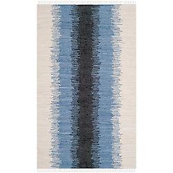 Safavieh Montauk Mort Grey / Black 5 ft. x 8 ft. Indoor Area Rug