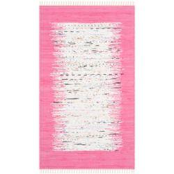 Safavieh Montauk Delroy Ivory / Pink 3 ft. x 5 ft. Indoor Area Rug