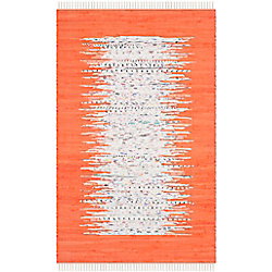 Safavieh Montauk Delroy Ivory / Orange 2 ft. 6 inch x 4 ft. Indoor Area Rug
