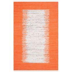 Safavieh Montauk Delroy Ivory / Orange 4 ft. x 6 ft. Indoor Area Rug