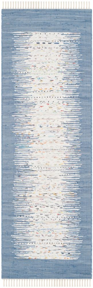 Safavieh Montauk Delroy Ivory / Dark Blue 2 ft. 3 inch x 9 ft. Indoor Runner