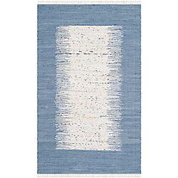 Safavieh Montauk Delroy Ivory / Dark Blue 5 ft. x 8 ft. Indoor Area Rug