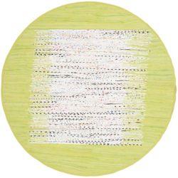 Safavieh Tapis d'intérieur rond, 6 pi x 6 pi, Montauk Delroy, ivoire / citron