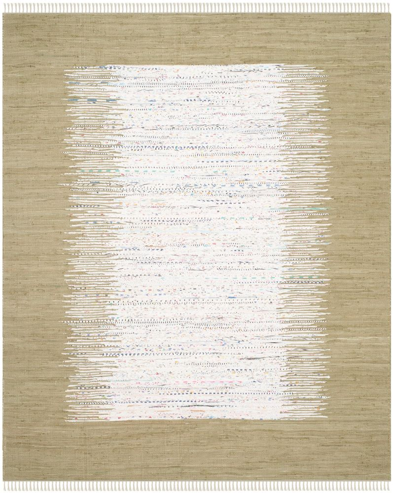 Montauk Delroy Ivory / Olive 8 ft. x 10 ft. Indoor Area Rug