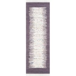 Safavieh Montauk Delroy Ivory / Purple 2 ft. 3 inch x 7 ft. Indoor Runner