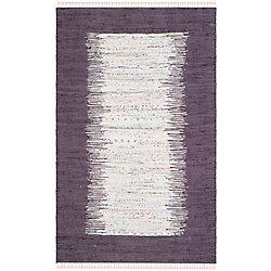 Safavieh Montauk Delroy Ivory / Purple 5 ft. x 8 ft. Indoor Area Rug