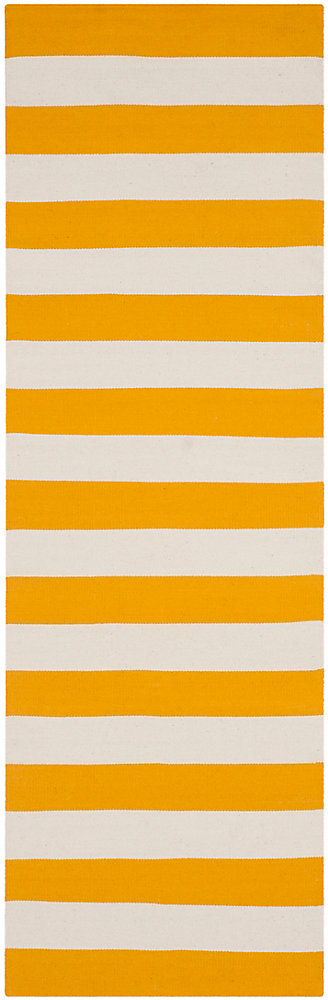 Montauk Keith Yellow / Ivory 2 ft. 3 inch x 9 ft. Indoor Runner