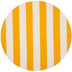 Safavieh Tapis d'intérieur rond, 4 pi x 4 pi, Montauk Keith, jaune / ivoire