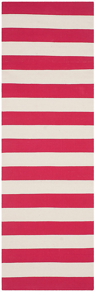 Montauk Keith Red / Ivory 2 ft. 3 inch x 9 ft. Indoor Runner