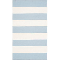 Safavieh Montauk Keith Sky Blue / Ivory 3 ft. x 5 ft. Indoor Area Rug