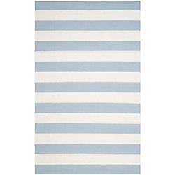 Safavieh Montauk Keith Sky Blue / Ivory 6 ft. x 9 ft. Indoor Area Rug