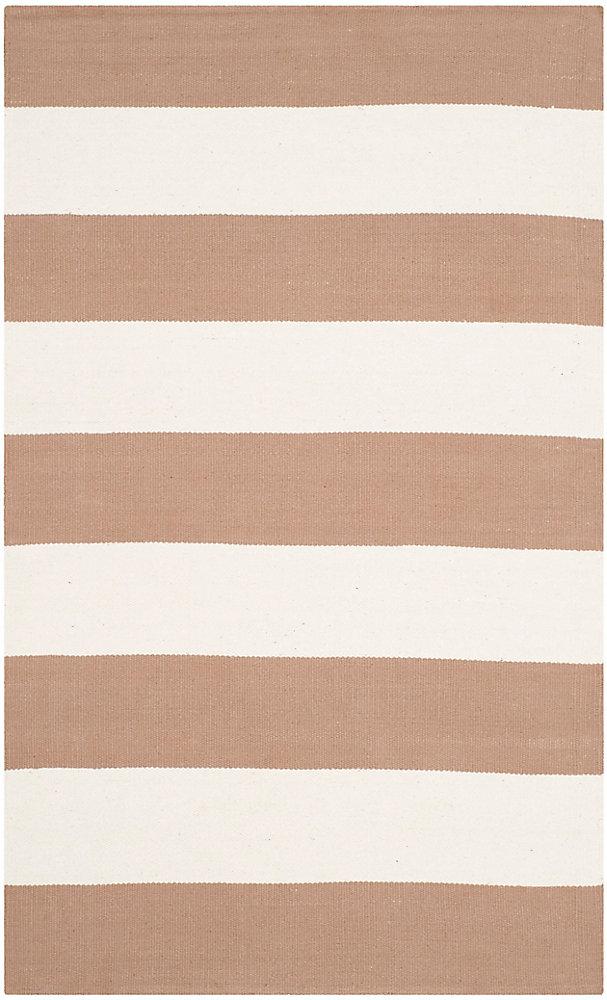 Tapis d'intérieur, 3 pi x 5 pi, Montauk Keith, sand / ivoire