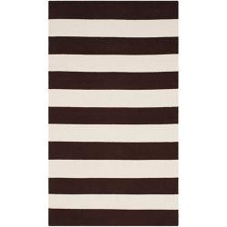 Safavieh Tapis d'intérieur, 3 pi x 5 pi, Montauk Keith, chocolat / ivoire