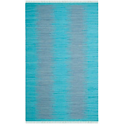 Safavieh Montauk Kim Turquoise 4 ft. x 6 ft. Indoor Area Rug