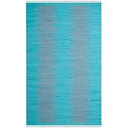 Safavieh Montauk Kim Turquoise 6 ft. x 9 ft. Indoor Area Rug