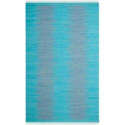 Safavieh Tapis d'intérieur, 6 pi x 9 pi, Montauk Kim, turquoise