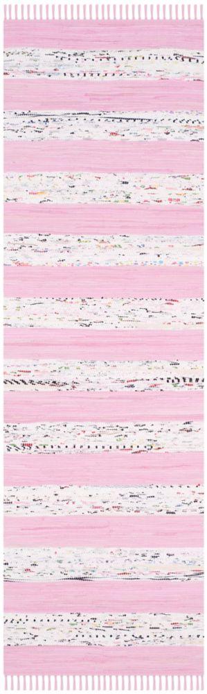 Safavieh Montauk Isla Ivory / Light Pink 2 ft. 3 inch x 7 ft. Indoor Runner