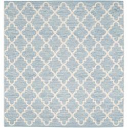 Safavieh Tapis d'intérieur carré, 6 pi x 6 pi, Montauk Cecilia, bleu clair / ivoire