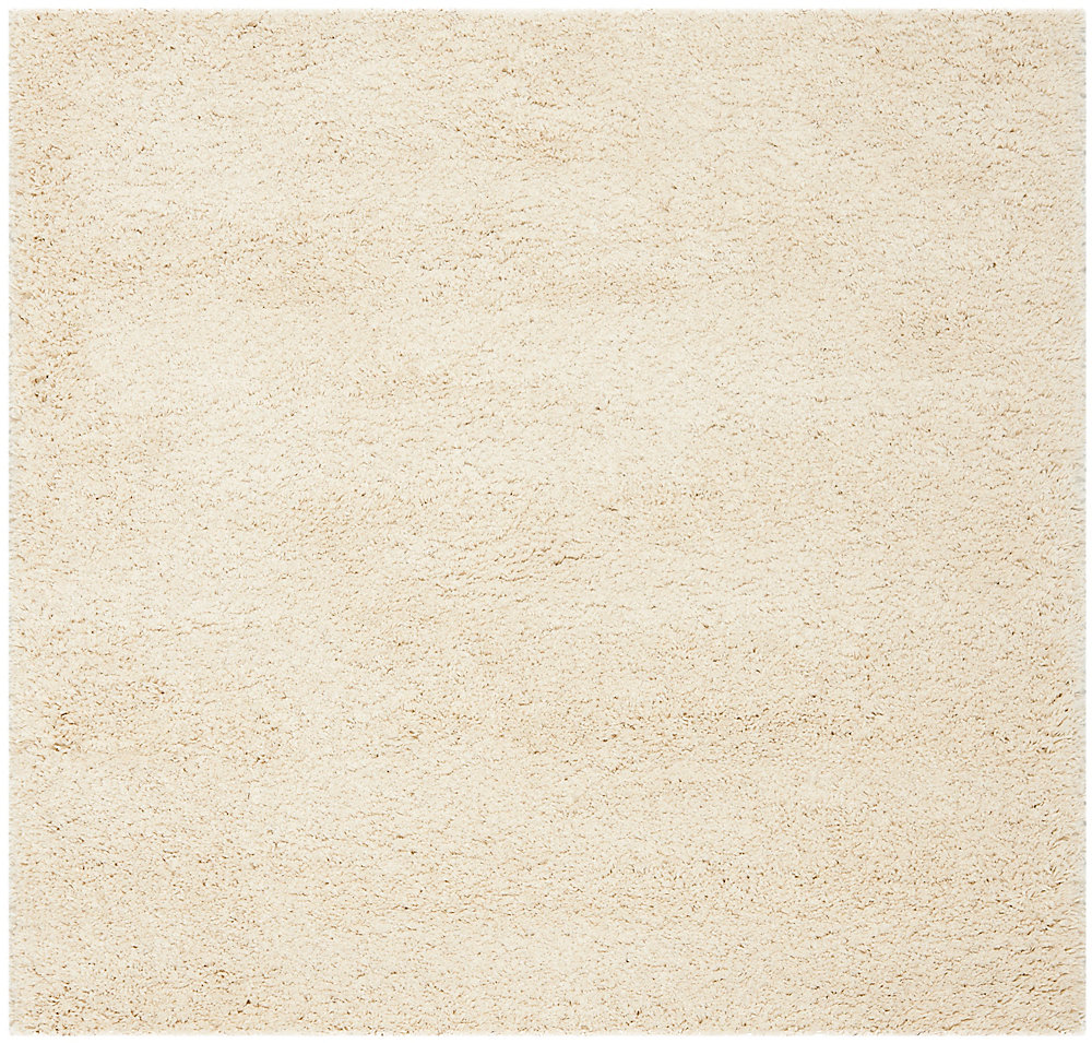 Shag Felicia Ivory 4 ft. x 4 ft. Indoor Square Area Rug