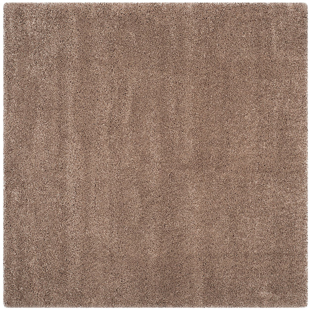 Shag Felicia Taupe 4 ft. x 4 ft. Indoor Square Area Rug