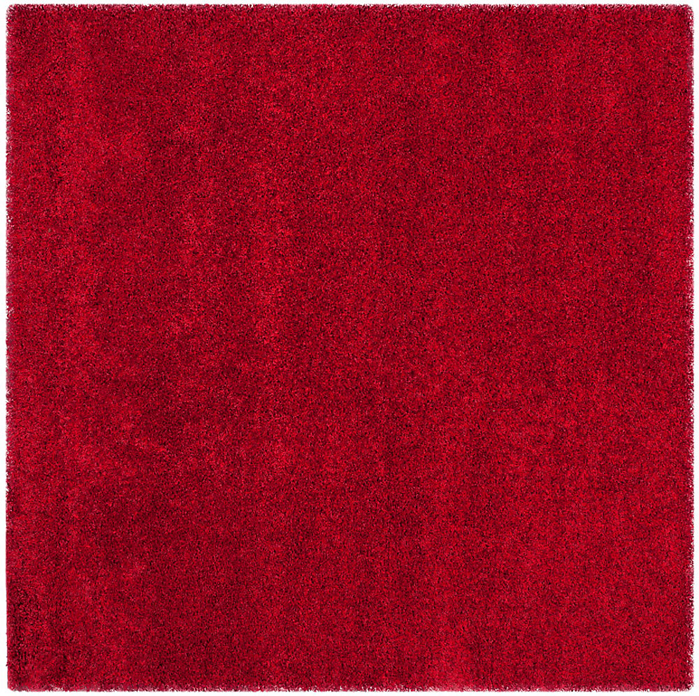 Shag Felicia Red 4 ft. x 4 ft. Indoor Square Area Rug