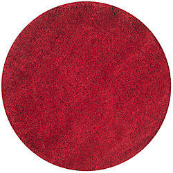 Safavieh Shag Felicia Red 6 ft. 7 inch x 6 ft. 7 inch Indoor Round Area Rug