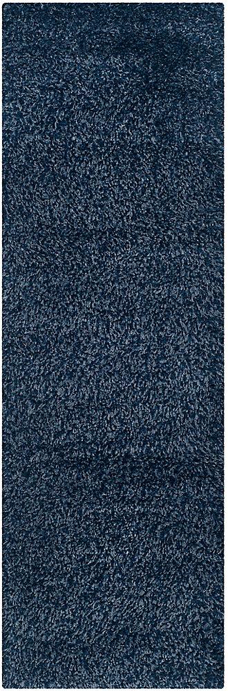 Tapis de passage d'intérieur, 2 pi 3 po x 5 pi, California Shag Felicia, marin