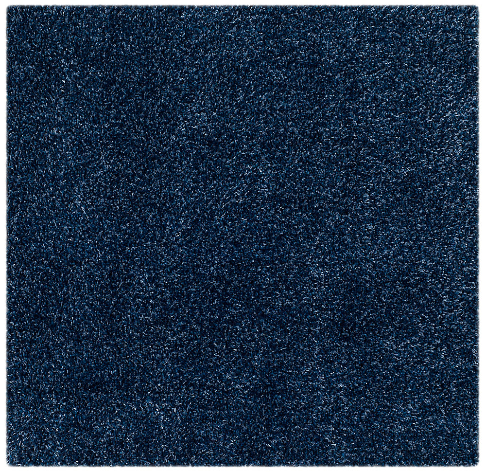Shag Felicia Navy 4 ft. x 4 ft. Indoor Square Area Rug