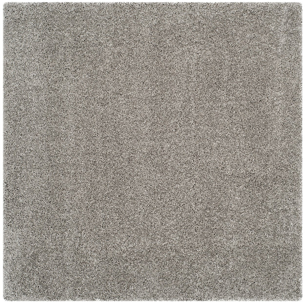 Shag Felicia Silver 4 ft. x 4 ft. Indoor Square Area Rug