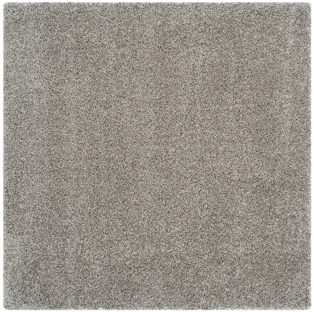 Shag Felicia Silver 6 ft. 7 inch x 6 ft. 7 inch Indoor Square Area Rug