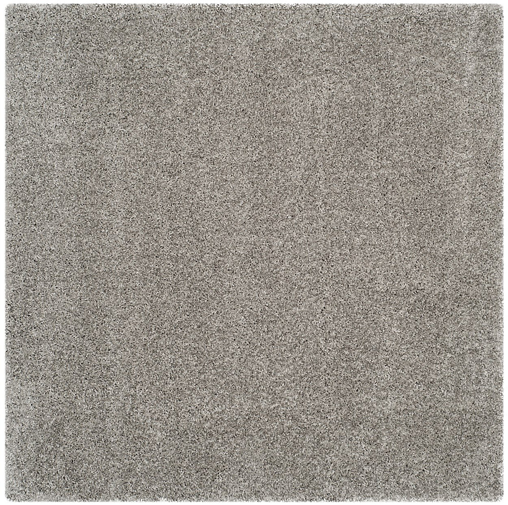 Shag Felicia Silver 8 ft. 6 inch x 8 ft. 6 inch Indoor Square Area Rug