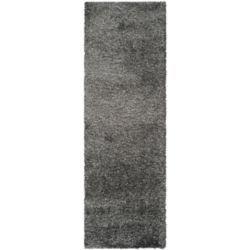 Safavieh Shag Felicia Dark Grey 2 ft. 3 inch x 21 ft. Indoor Runner