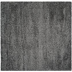 Safavieh Shag Felicia Dark Grey 4 ft. x 4 ft. Indoor Square Area Rug