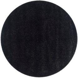 Safavieh Shag Felicia Black 4 ft. x 4 ft. Indoor Round Area Rug