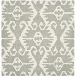 Safavieh Wyndham Alexis Grey / Ivory 5 ft. x 5 ft. Indoor Square Area Rug