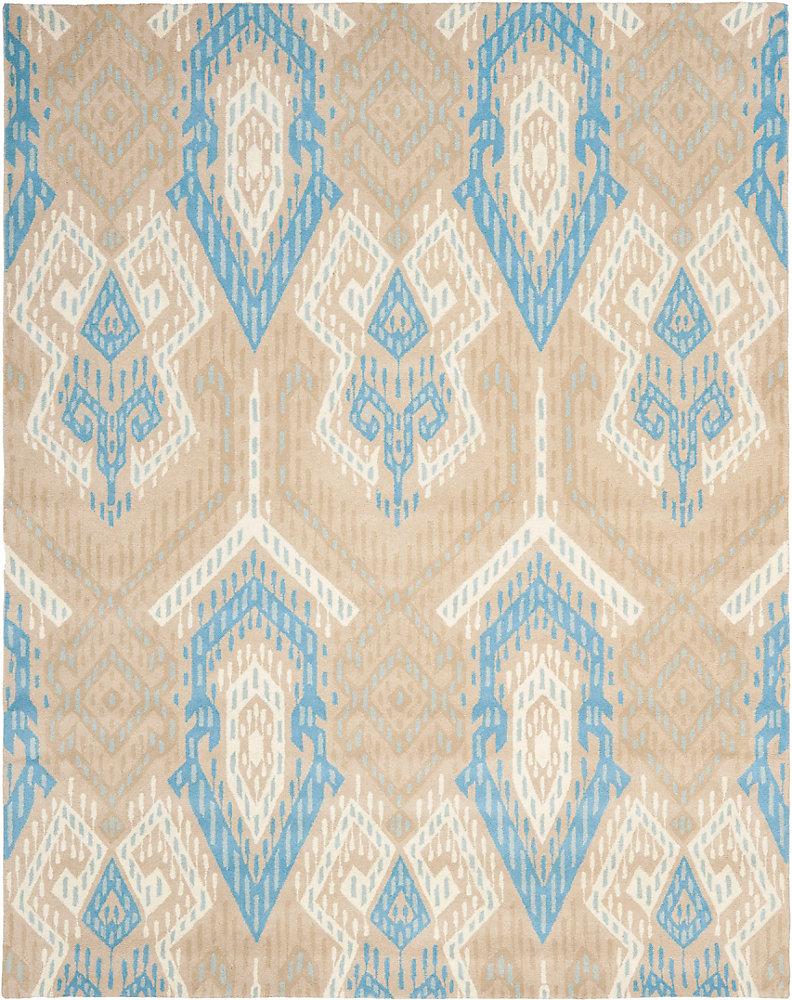 Wyndham Collin Blue / Ivory 8 ft. x 10 ft. Indoor Area Rug