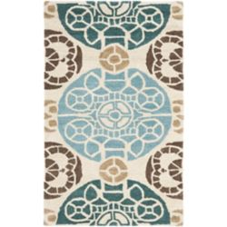 Safavieh Wyndham Keisha Beige / Blue 2 ft. 6 inch x 4 ft. Indoor Area Rug