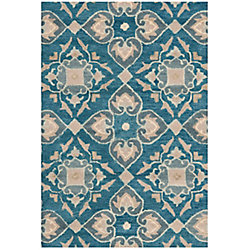 Safavieh Wyndham Chad Blue / Grey 2 ft. 6 inch x 4 ft. Indoor Area Rug