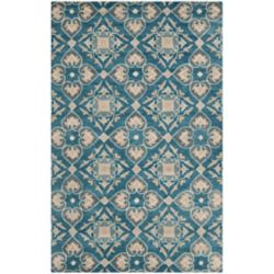 Safavieh Wyndham Chad Blue / Grey 4 ft. x 6 ft. Indoor Area Rug