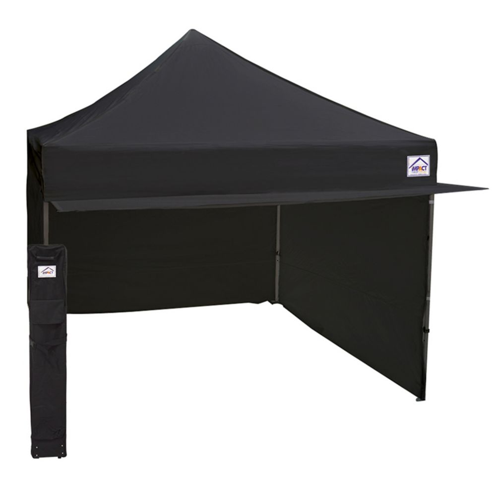 Impact Canopy 10 ft. x 10 ft. Aluminum u0026 Steel Mix Vendor Canopy with Enclosure u0026 Awning in Black  sc 1 st  The Home Depot Canada & Impact Canopy 10 ft. x 10 ft. Aluminum u0026 Steel Mix Vendor Canopy ...