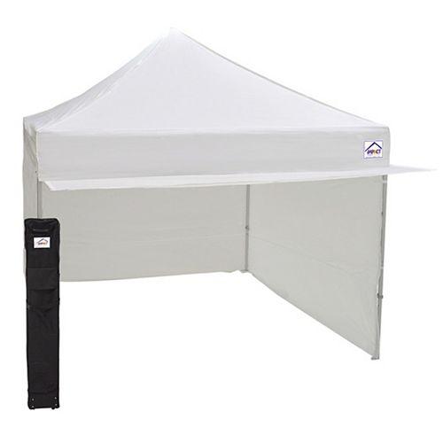 Impact Canopy Kiosque avec clôture et auvent, aluminium et acier, blanc