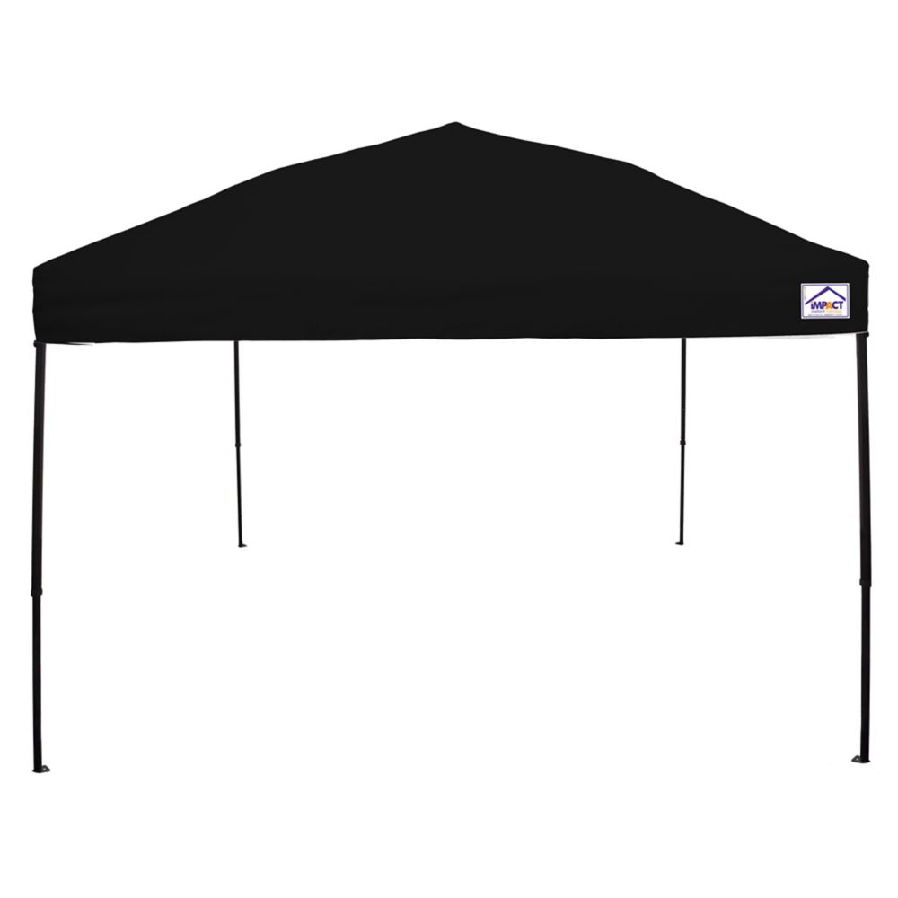 Impact Canopy 10 Feet x 10 Feet Recreational Grade Steel Sport Pop Up Canopy Black