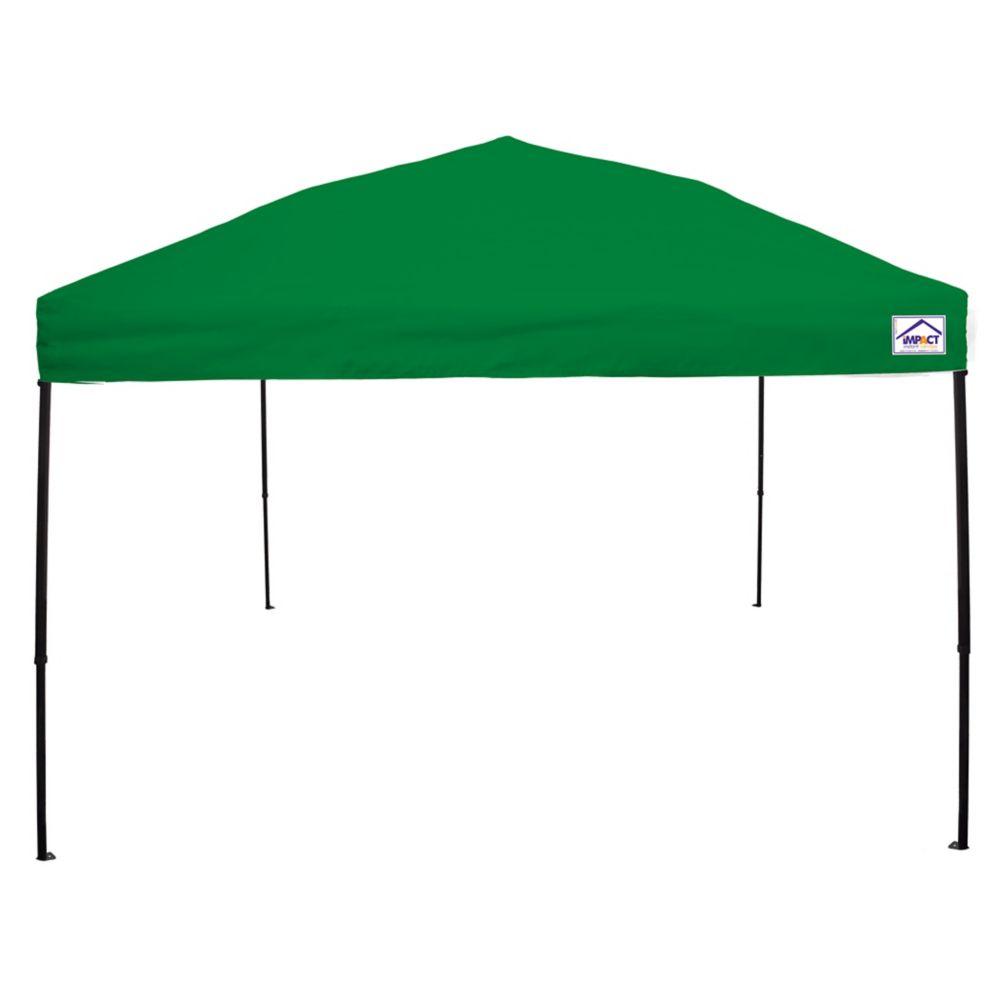 Impact Canopy 10 Feet x 10 Feet Recreational Grade Steel Sport Pop Up Canopy Kelly Green