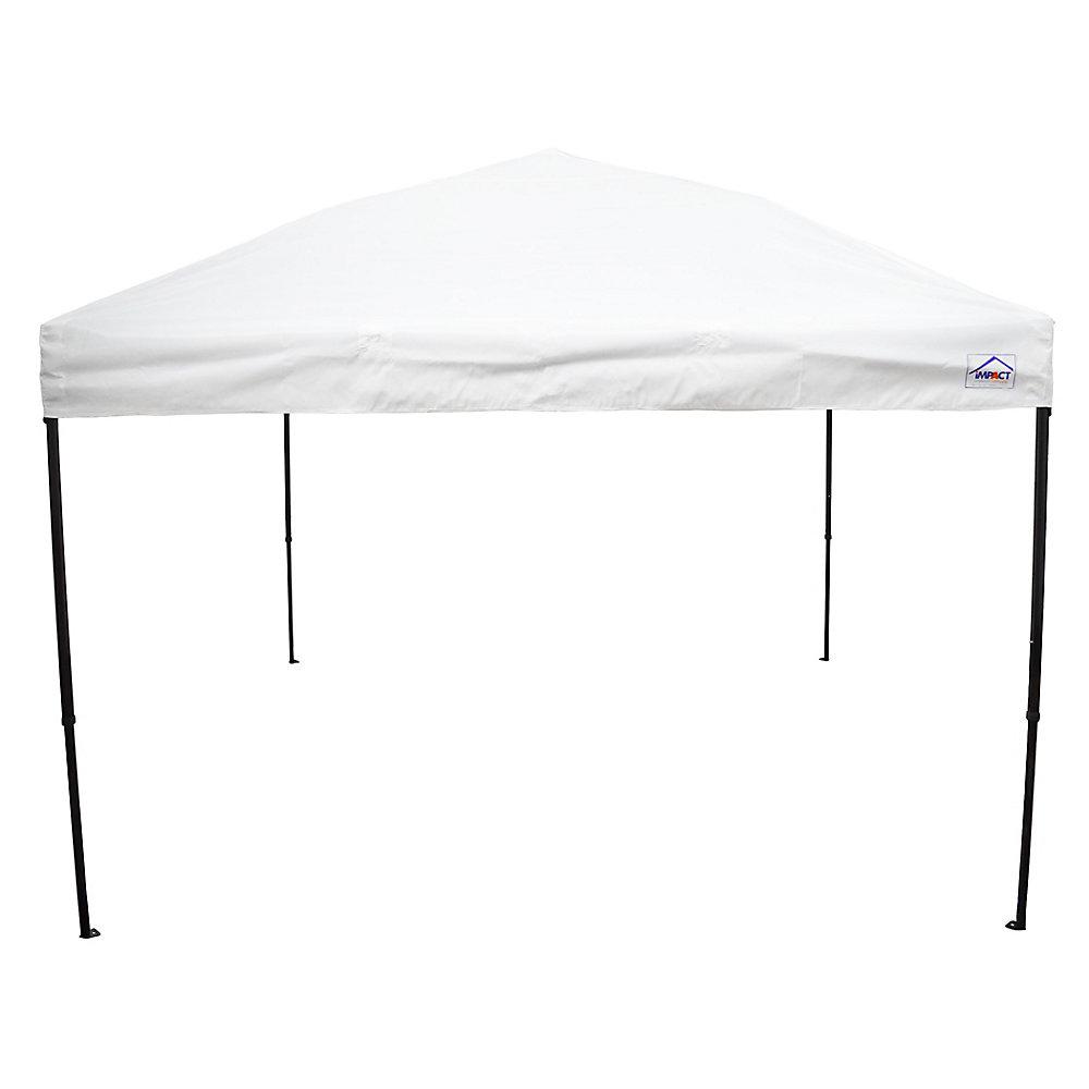 10 Feet x 10 Feet Recreational Grade Steel Sport Pop Up Canopy White